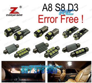 KIT COMPLETO DE 25 BOMBILLAS LED INTERIOR AUDI A8