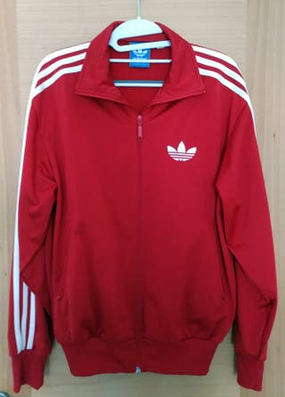 Chaqueta Adidas roja y blanca talla S