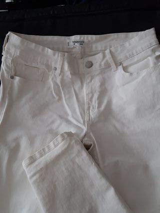 mango pantalón blanco