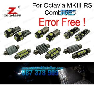 KIT COMPLETO DE 17 BOMBILLAS LED INTERIOR SKODA OC