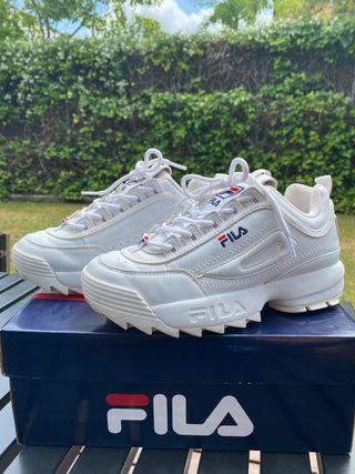 Zapatillas Sneakers FILA blancas T. 35