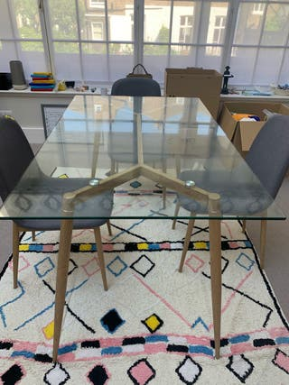 Dining table and chairs