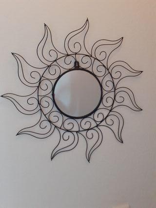 Espejo sol de forja