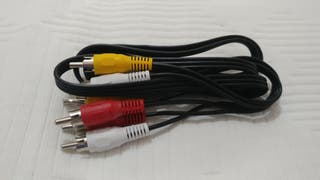 Varios cables conexión RCA audio y video