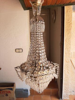 Lámpara de araña de lagrimas de cristal