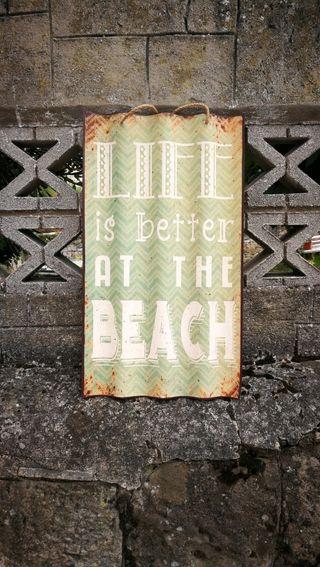 Cartel decoración. Beach / Plage