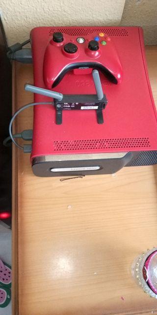 Xbox 360 edicion elite roja.