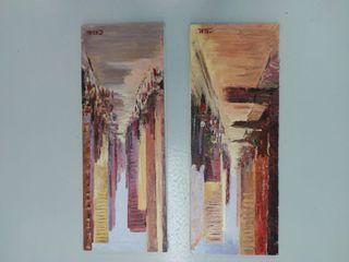 Cuadro pintura oleo sobre lienzo del pintor Casal