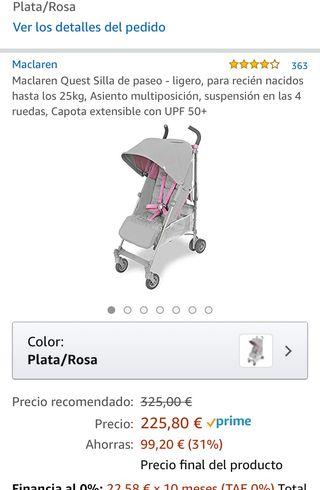 Carrito bebe-silla paseo MCLAREN nuevo precintado