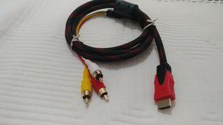 Cable adaptador de HDMI a RCA