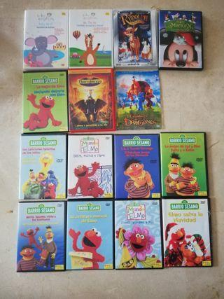 Coleccion 14 dvd infantiles. Barrio Sesamo y otros