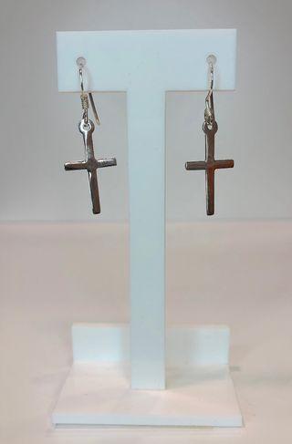 Pendientes plata de ley 925 cruz