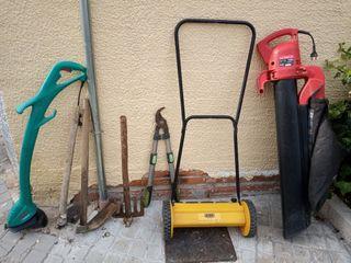 Lote máquinas ,herramientas jardinería