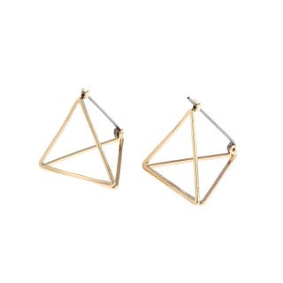 Geometry shaped minimalism gold tone stud earring