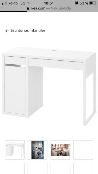 Mesa escritorio niño Micke de Ikea