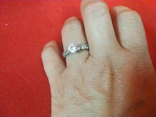 anillo plata vintage solitario