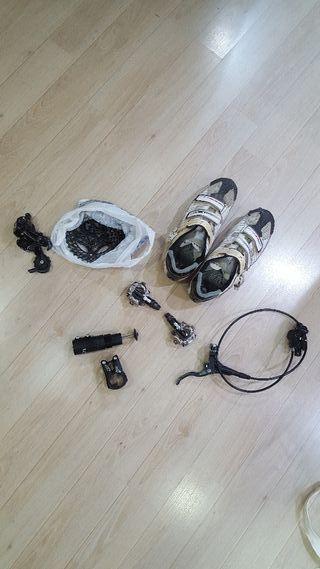 conjunto de piezas bicicleta mtb