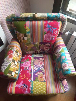 Sillón patchwork multicolor