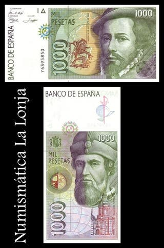Billete 1000 Pesetas Hernán Cortés 1992 Nuevo