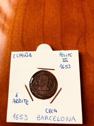 Ardite 1653 Barcelona Felipe III