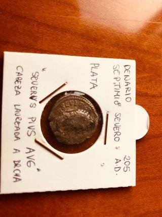 Denario de plata auténtico