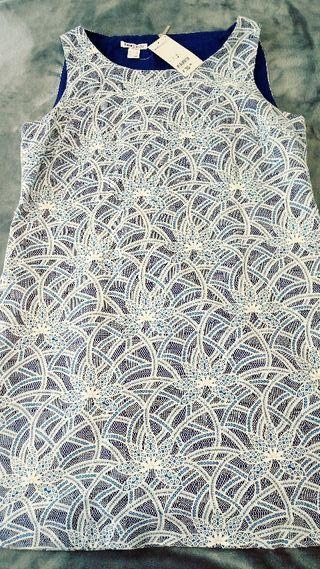 Vestido Suite Blanco azul talla L a estrenar