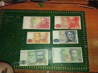 reproducción de billetes pesetas