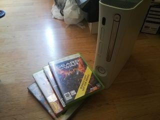 Xbox 360 60GB + 3 juegos