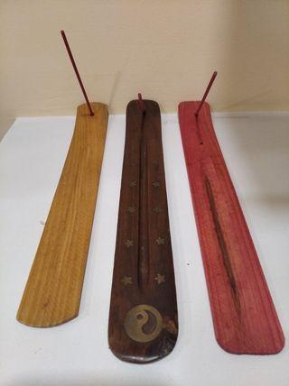 porta inciensos de madera