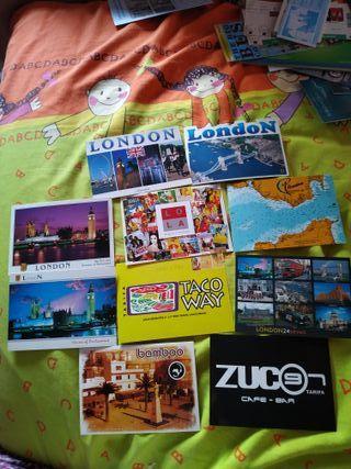 Postales Londres y Tarifa