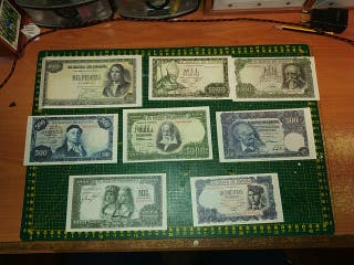 Reproducción de billetes de peseta