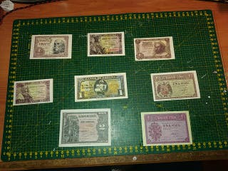reproducción de billetes de peseta.