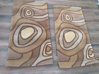 JUEGO 2 alfombras de LANA