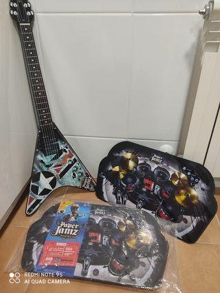 guitarra y batería Paper Jamz