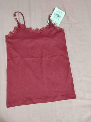 Camiseta tirantes lencera