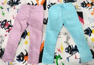 2 Pantalones niña talla 104