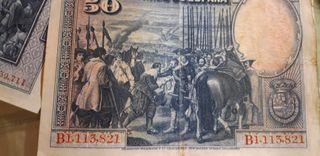 billetes de peseta antiguos