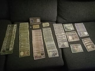 Billetes de pesetas antiguas