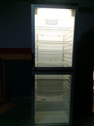 Vitrina frigorífica vertical con dos puertas