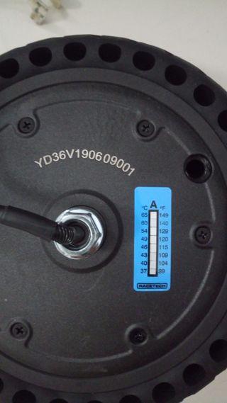 Termometro pegatina patinete electrico xiaomi m365