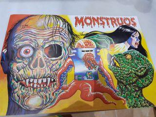 """Álbum de cromos completo """"MONSTRUOS """""""
