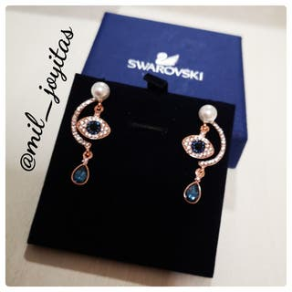 Pendientes luckily evil eye multicolor rose gold