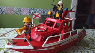 Barco bomberos playmobil