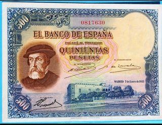 BILLETE 500 PESETAS 1935