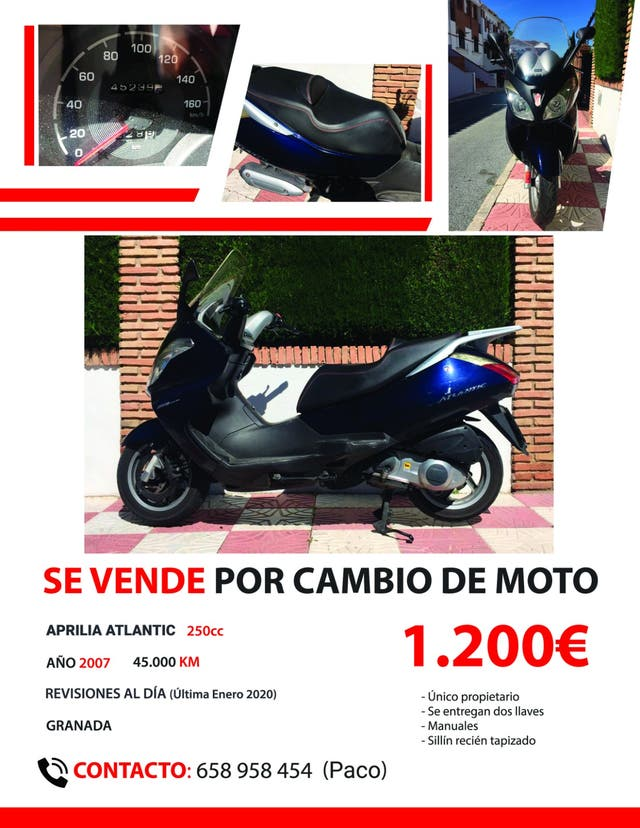 Vendo Aprilia Atlantic 250