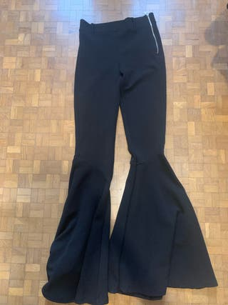 Pantalones de vestir campana negros
