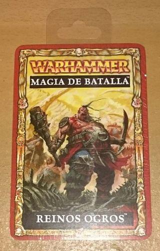 Cartas de Magia de Batalla Reinos Ogros Warhammer