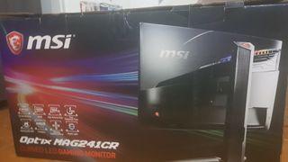 """Monitor Curvo Gaming MSI 24"""" 144hz"""