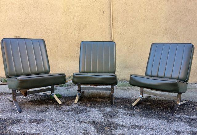 Set 3 Butacas sillones vintage 1960 industrial
