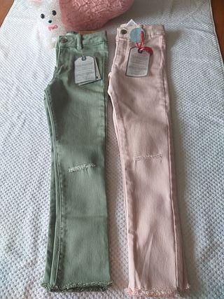 lote pantalones niña talla 5 años